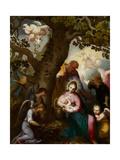 La huida a Egipto (fresco) Lámina giclée por Abraham Bloemaert