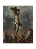 Christ on the Cross, 1853 Reproduction procédé giclée par Eugene Delacroix