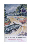 The Official Programme for Le Mans 24 Hours, 1954 Giclée-tryk