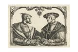 Charles V and Ferdinand I Gicléetryck av Christoffel Bockstorffer