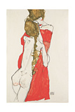 Mother and Daughter, 1913 Giclee Print by Egon Schiele