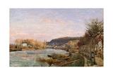 The Seine at Bougival, 1870 Stampa giclée di Camille Pissarro
