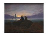 Moonrise over the Sea, 1822 Giclée-tryk af Caspar David Friedrich