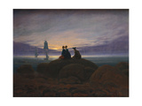 Moonrise over the Sea, 1822 Gicléedruk van Caspar David Friedrich