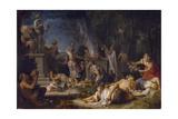 The Offering to Bacchus, 1720 Lámina giclée por Michel-ange Houasse