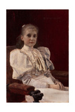 Seated Young Girl, 1894 Giclée-Druck von Gustav Klimt