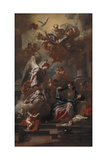 The Annunciation Giclée-tryk af Francesco Solimena