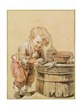 Boy with a Broken Egg, Ca 1756 Giclee Print by Jean-Baptiste Greuze