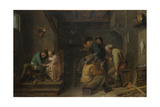 Tavern Scene, C. 1635 Giclée-vedos tekijänä Adriaen Brouwer