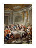 The Oyster Meal, 1735 Giclee Print by Jean-François de Troy