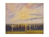 Sunset at Èragny, 1890 Reproduction procédé giclée par Camille Pissarro