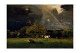 Rainbow, 1878-1879 Giclée-tryk af George Inness
