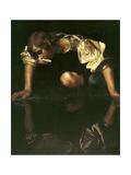 Narcissus, 1598-1599 Giclée-tryk af  Caravaggio