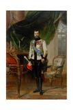 Portrait of Emperor Nicholas II (1868-191), 1896 Giclée-Druck von Ernest Karlovich Liphart