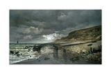 La Pointe De La Hève at Low Tide Giclee Print by Claude Monet