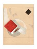 Study (For the Story of Two Quadrat), C. 1920 Giclee-trykk av El Lissitzky
