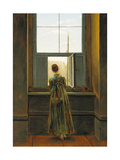 Woman at a Window, 1822 ジクレープリント : カスパル・ダーヴィト・フリードリヒ