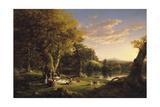 The Pic-Nic, 1846 Giclée-tryk af Thomas Cole