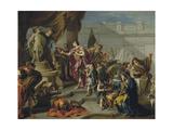 Scipio Paying Homage to Mars Giclée-Druck von Giovan Battista Pittoni
