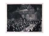 Reform Banquet at the Guildhall, London, 1837 Giclee Print by Benjamin Robert Haydon