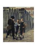 A Meeting, 1884 Giclee-trykk av Maria Konstantinovna Bashkirtseva