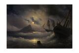 Gibraltar by Night, 1844 Giclée-tryk af Ivan Konstantinovich Aivazovsky