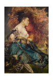 A Japanese Woman, C. 1870 Giclee Print by Hans Makart