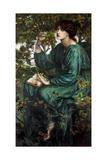 The Day Dream, 1880 Giclee-trykk av Dante Gabriel Rossetti