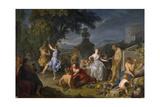 Bacchanalia, 1719 Lámina giclée por Michel-ange Houasse