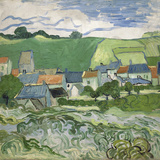 View of Auvers, 1890 ジクレープリント : フィンセント・ファン・ゴッホ