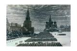 Parade in Red Square, December 1947, Moscow, Russia Giclée-vedos