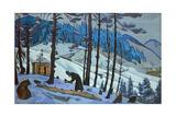 Saint Sergius the Builder, 1925 Giclée-Druck von Nicholas Roerich