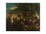 A Bacchanal, C. 1520 Giclée-tryk af Dosso Dossi