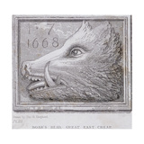 Inn Sign from the Boar's Head Tavern, Eastcheap, London, 1850 Giclee Print by Thomas Hosmer Shepherd