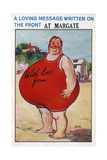 A Seaside Postcard from Margate, Kent, 20th Century Giclée-tryk