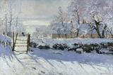 La gazza ladra, 1869 Stampa giclée di Claude Monet