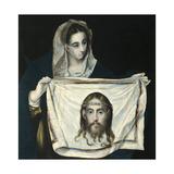 Saint Veronica Lámina giclée por  El Greco