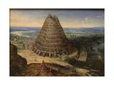 The Tower of Babel, 1594 Giclée-Druck von Lucas van Valckenborch