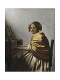 A Young Woman Seated at a Virginal, C. 1670 Lámina giclée por Johannes Vermeer