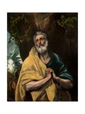 Saint Peter in Tears Lámina giclée por  El Greco