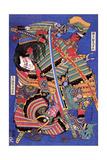 The Warrior Kengoro Giclée-tryk af Katsushika Hokusai