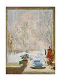 Through the Window in Winter, 1945 Giclée-Druck von Konstantin Ivanovich Gorbatov