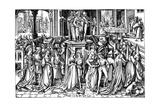 The Dance at the Court of Herod, C. 1500 Gicléetryck av Israhel van Meckenem the younger