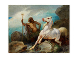 Neptune Creating the Horse, Ca 1845 Giclee Print by Édouard Alexandre Odier