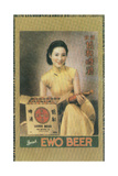 Shanghai Advertising Poster Advertising Ewo Lager, C1930s Impressão giclée