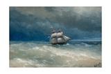 Stormy Sea Giclée-tryk af Ivan Konstantinovich Aivazovsky