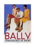 Bally Sports Shoes, 1928 Gicléetryck av Emil Cardinaux