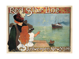 Red Star Line, 1899 Giclee Print by Henri Cassiers