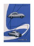 Poster Advertising the Porsche 356, 1955 Giclée-Druck