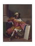 King David Lámina giclée por  Guercino